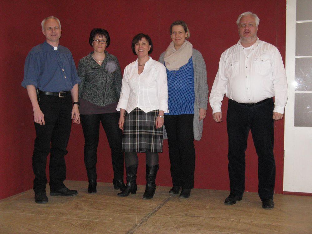 Das MBC-Präsidium: von links nach rechts: Carsten Walther, Regine Röder, Bärbel Eichelkraut, Ulrike Röder und Uwe Weise