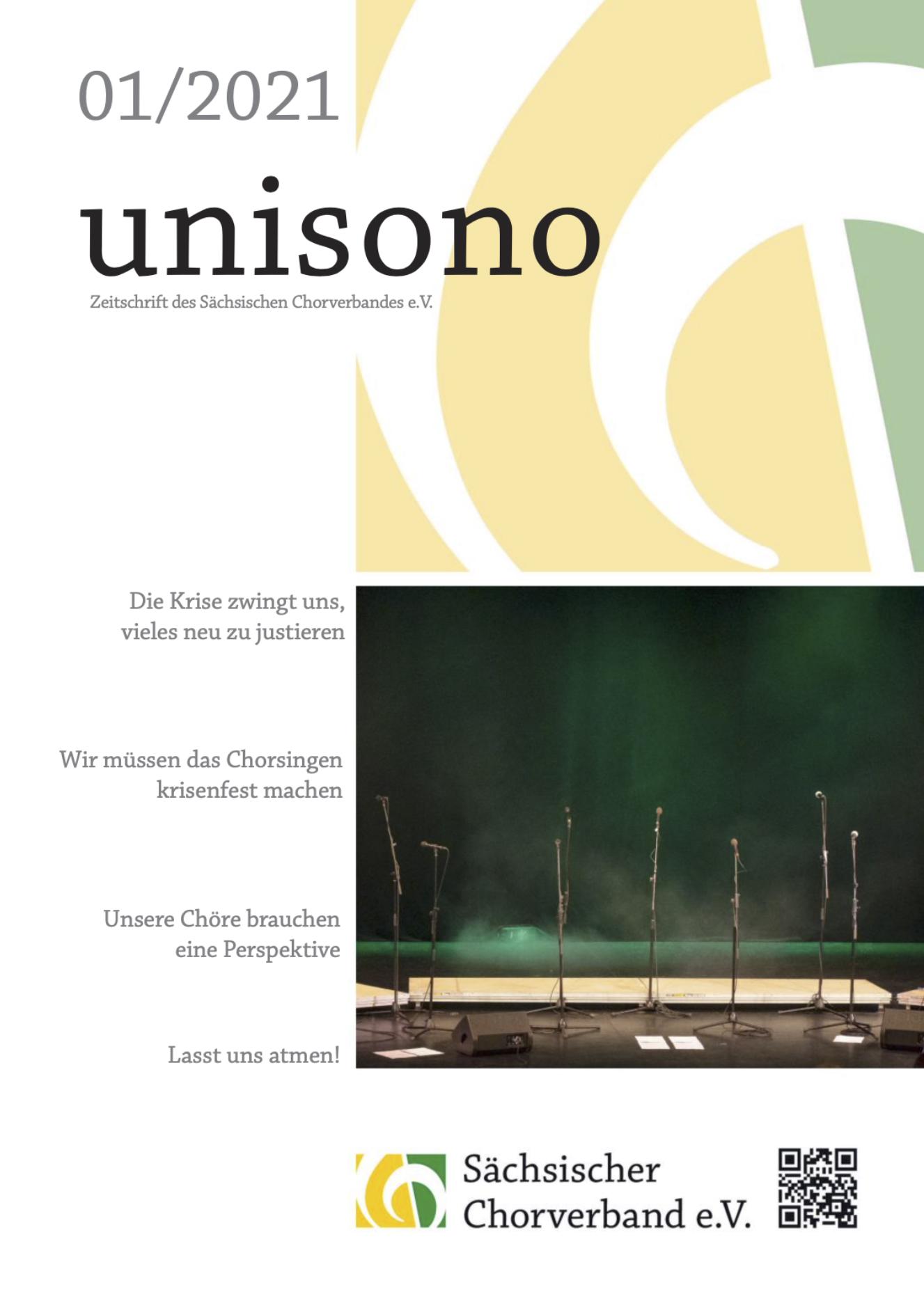UNISONO 2021 -1 Titelseite